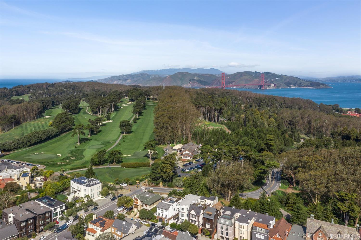 Verdant Presidio views form the backdrop for this exquisite Tudor style home with a coveted location on the Exclusive Presidio Wall. Sophistication and scale abounds, with soaring ceilings period details & rich hardwood floors. Currently configured as 2 units with additional flex studio space, perfect for a multi-generational family compound. Available for the 1st time in nearly 40 years, this elegant home affords an opportunity for your personal touches or creative reconfiguration to suit a more modern lifestyle. The framework includes oversized windows with Presidio views, plus an extensive rooftop deck. Located across from the Presidio National Park, Presidio Golf and numerous walking trails in the Presidio as well as a short walk to the restaurants and shops on Sacramento St and in Laurel Village. This is truly a rare offering and opportunity for someone looking for a San Francisco treasure.