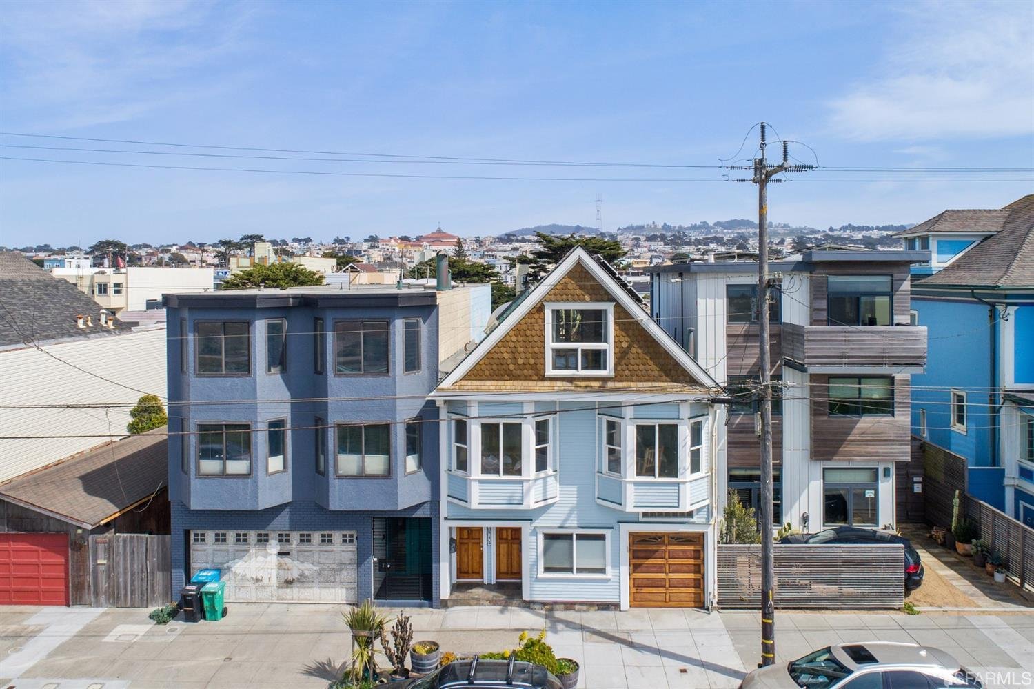 This historic beach front property is one of the original homes to line San Francisco's Great Highway. This property was constructed in 1909 and maintained in a manner that shows incredible pride of ownership. Truly a work of art and one of a kind; this home has character, warmth and soul like few others.Every inch of this home has been carefully and meticulously upgraded with an artist touch. The home smells of wood and has a feel of a mountain cabin; from the wainscoting; the built-in-place kitchen cabinets and counter tops; to the cedar lined closets; fresh wood permeates your senses in every room. Whether it's the ocean views, multilevel decks, uniquely landscaped rear yard, custom and one of a kind built-ins; this property is an artistic showpiece with tremendous surf history that throws back to a simpler time before the magic of Ocean Beach was discovered in recent years.
