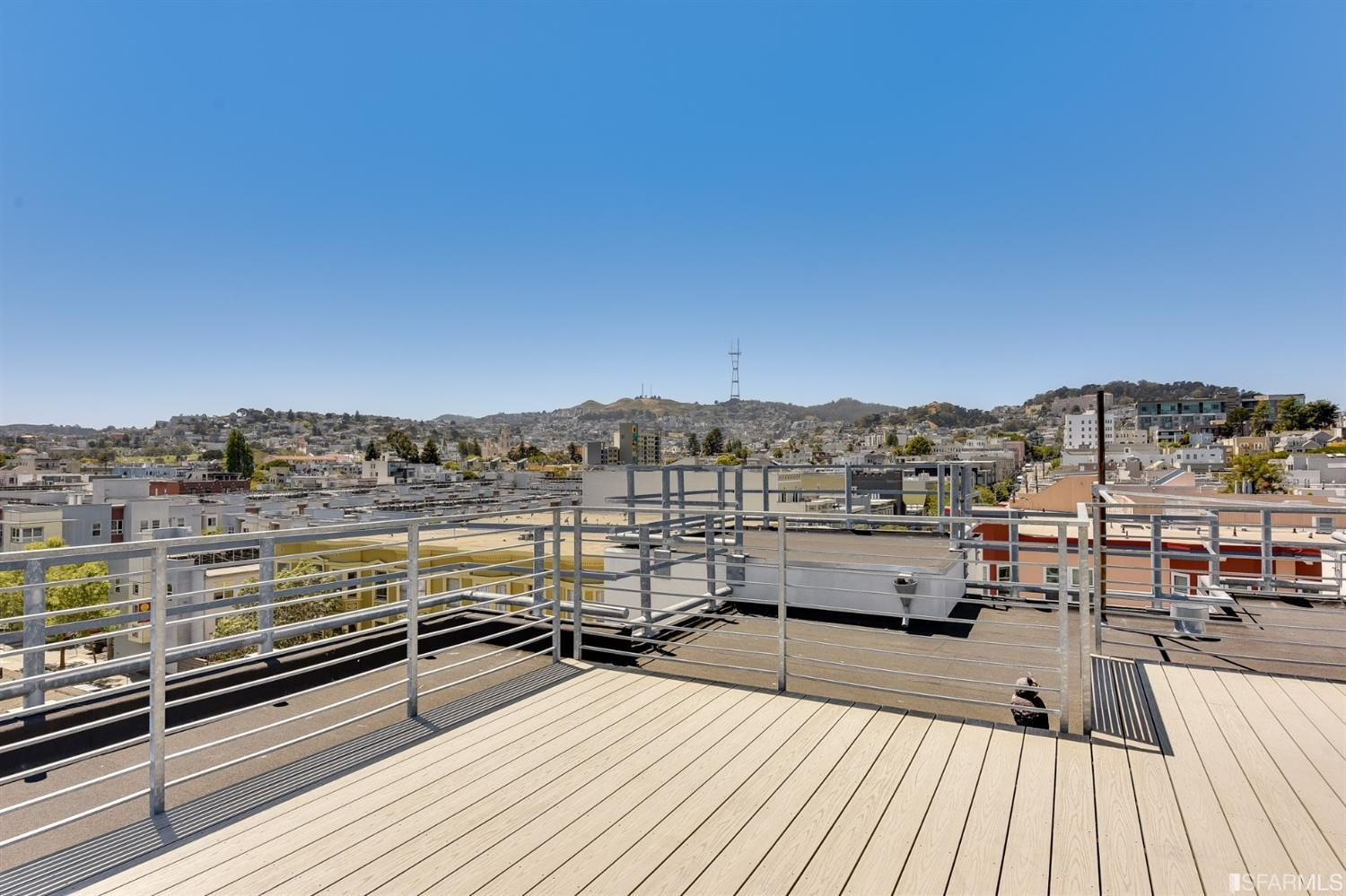 Photo #12: Roof deck looking west