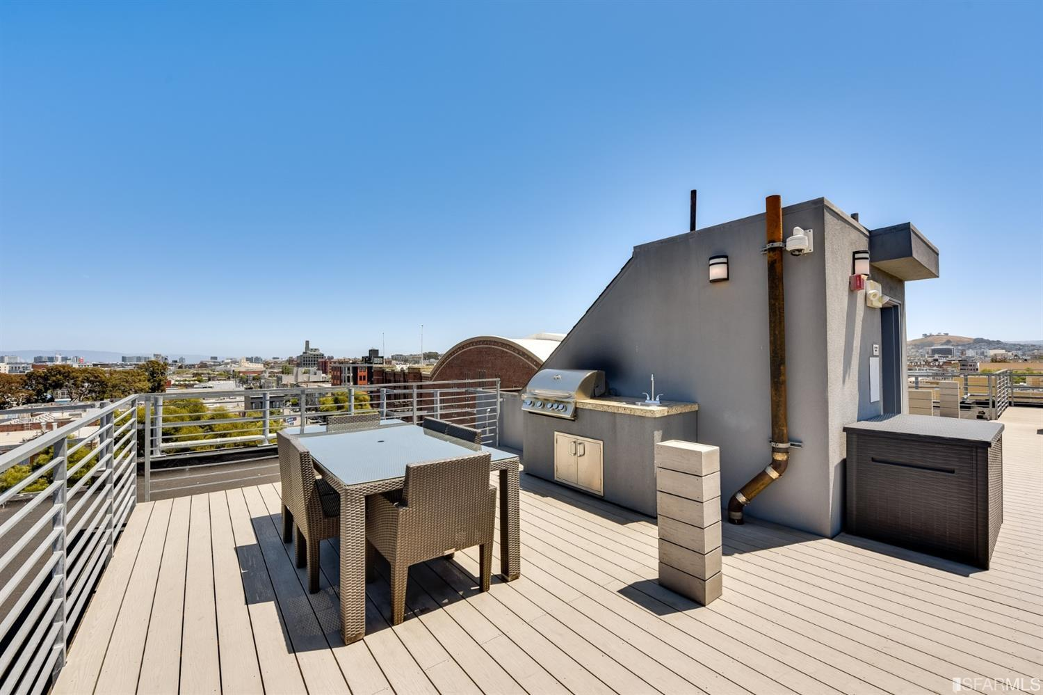 Photo #10: Shared roof deck with BBQ