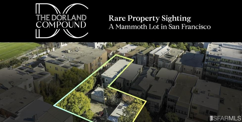 At a time when space to live and work is not just a luxury but a requirement,enter The Dorland Compound.210 Dorland Street is rare top floor TIC offering that must be seen to fully understand the possibilities and flexibility available. Please review the the site plan. A massive 6333 sq ft L shaped lot(per public record) awaits your imagination and it presents options not common in an urban environment.210 is owner occupied, remodeled, and lovely, but it's the lot, parking, and space available where the opportunity shines. Are you a car enthusiast who wants immediate access to their collection with 5 covered garages and 5 more additional car parking (TIC agreement outstanding)? An artist needing the space to craft large sculptures, or a wood or metal enthusiast who needs an on-site, shop-like environment to satisfy their hobbies? 208 & 210 TIC's have bonus ADU's attached to each offering. Neatly positioned on the cusp of the Castro, Mission Dolores,Duboce Triangle and Mission District.