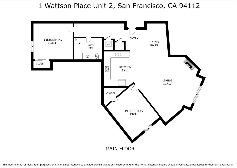 Listing 421574019 : 1  Wattson Place 2, San Francisco, CA, 94112  (photo 2)